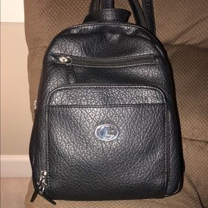 Handbags - Black small backpack.